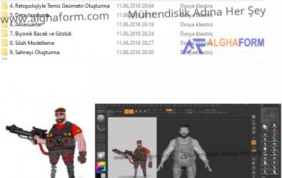 ZBrush 4R8 ile 3D Karakter Modelleme Video Eğitim Seti