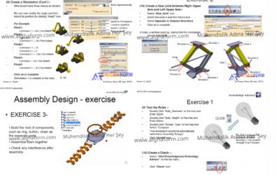 Catia Tasarım ve Kinematik Uygulamalı Dersler ( Kol Saati, Lift Vs)